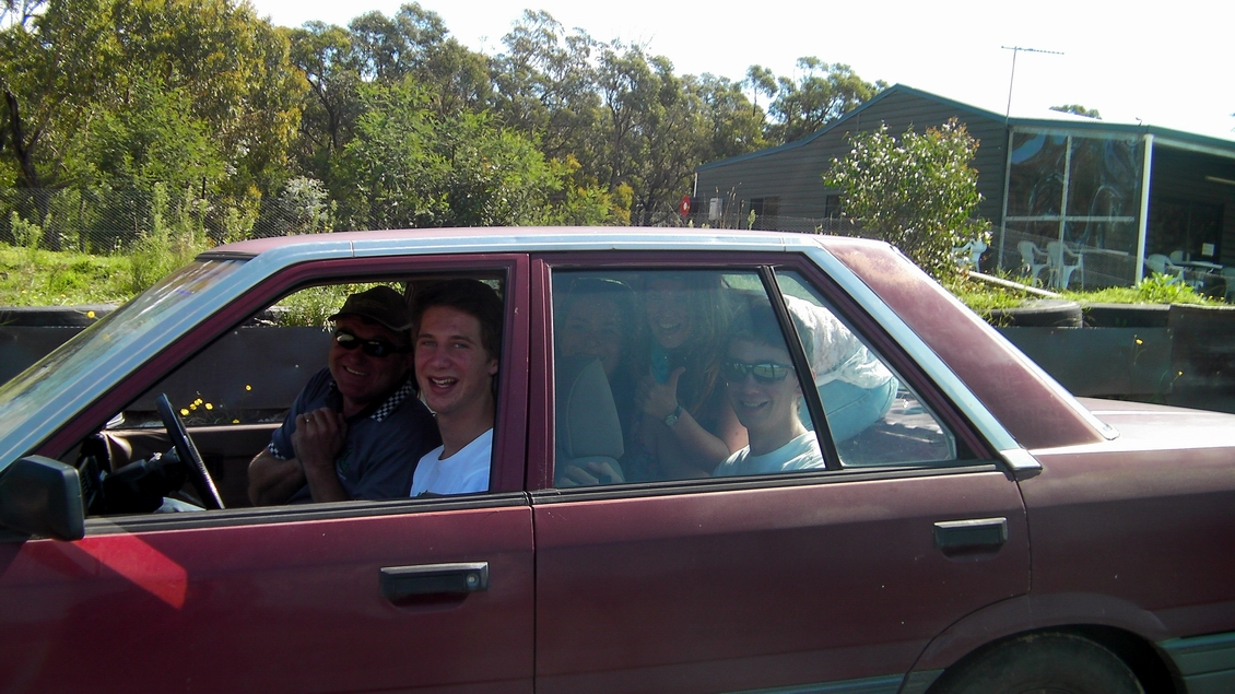 Students in car